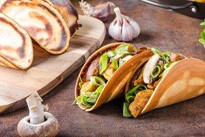 Homemade chicken tacos