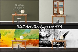 Wall Mockup - Sticker Mockup Vol 436