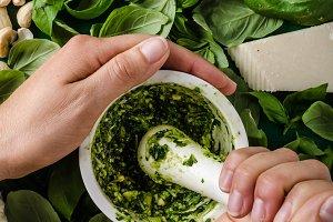 Basil pesto make