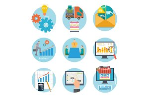 Business start infographic template