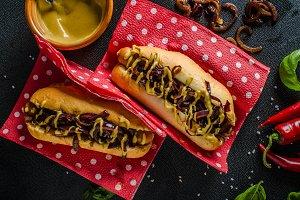 All beef hotdogs