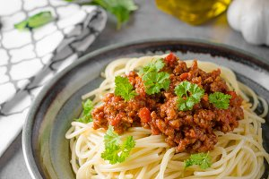 Spaghetti bolognese homemade