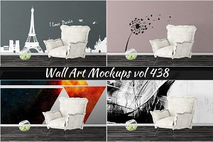 Wall Mockup - Sticker Mockup Vol 438
