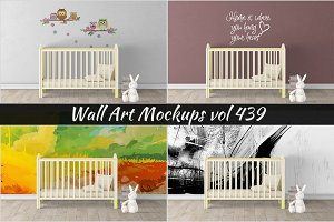 Wall Mockup - Sticker Mockup Vol 439