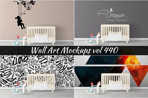 Wall Mockup - Sticker Mockup Vol 440