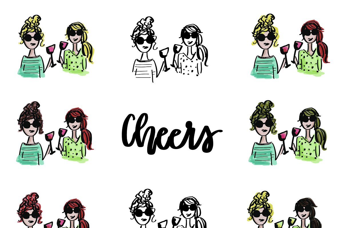 Wine Gals in Illustrations - product preview 8