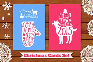 Christmas card set. 2015