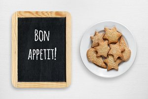 Cookies and wishes bon appetit