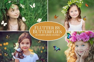 Flutter by Butterfly photo overlays
