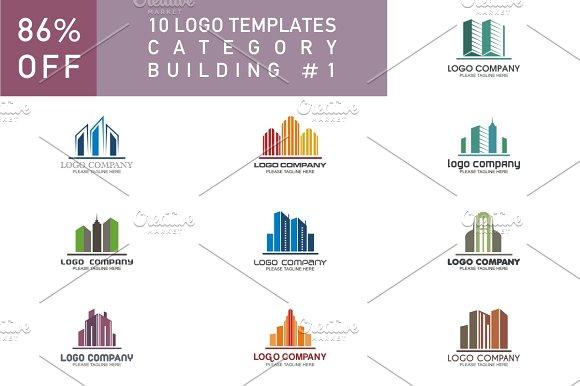 10 Logo Set Building