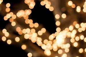 Bokeh Lights Night Time
