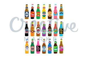 Beer Bottle Vector Set