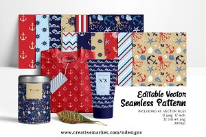 Nautical Paper Pattern Set