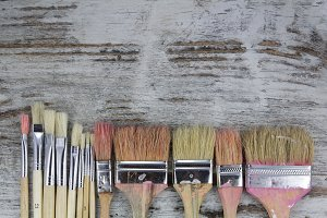 Set of paintbrushes