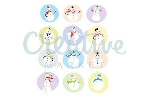 Snowman Vector Collection