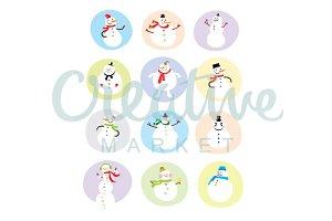 Snowman Vector Collection