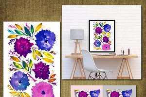 Hand painted flowers1J