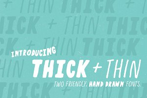 Thick + Thin Font