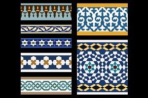 Moorish Seamless Border Set