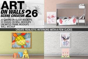 Canvas Mockups - Frames Mockups v 26