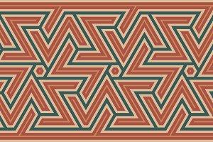 Morocco Geometric Seamless Border