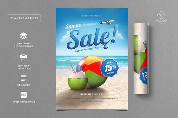 Summer Sale Flyer Holiday