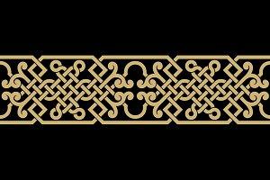 Arabic Interlaced Seamless Border
