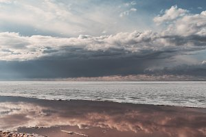 Dramatic cloudscape over the sea