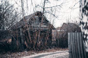 Old abandoned summer house