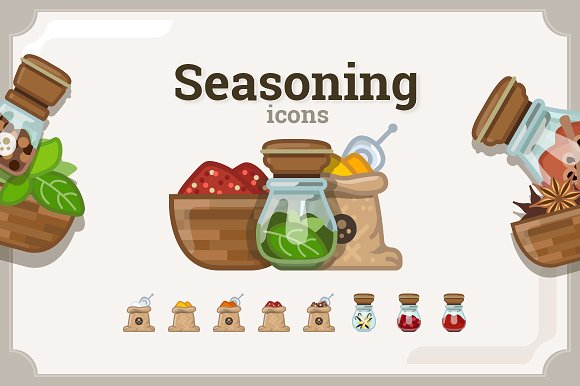 Seasoning Icons Set