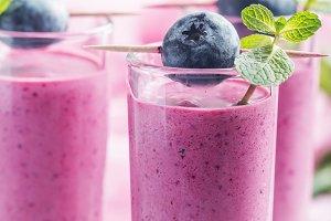 Delicious blueberry smoothie