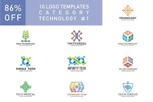 10 Logo Set - Technology