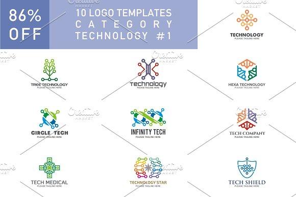 10 Logo Set Technology
