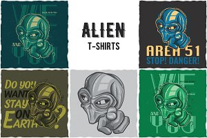 Alien T-shirts Labels