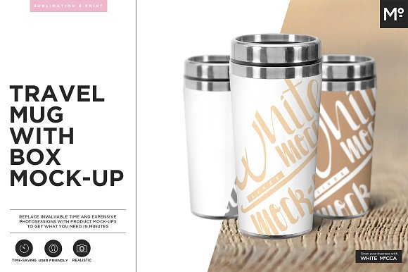 Free Travel Mug Mock-up