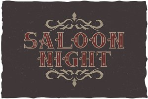 Saloon Label Typeface