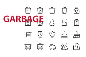 20 Garbage UI icons