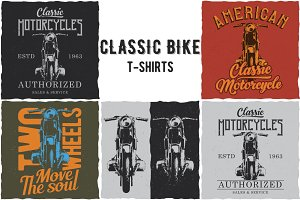 Classic Bike T-shirts Labels