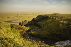 South Iceland. Landscape with river