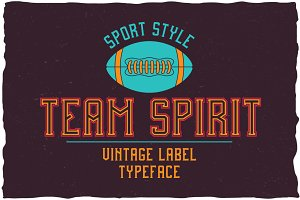 Team Spirit Label Typeface