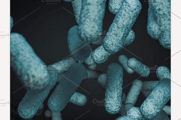 Close Up Of Microscopic Bacteria