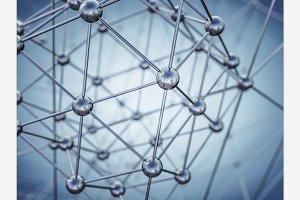 Molecular structure. 3D rendering