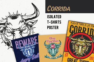 Corrida T-shirts And Poster Labels