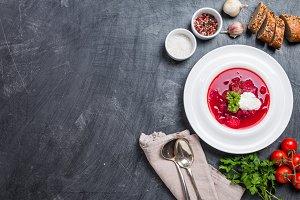 Russian soup - red borscht