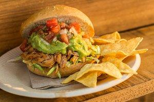 Mexican burger street food