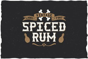 Spiced Rum Vintage Label Typeface