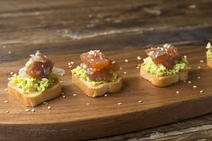 Tartar of Salmon with avocado