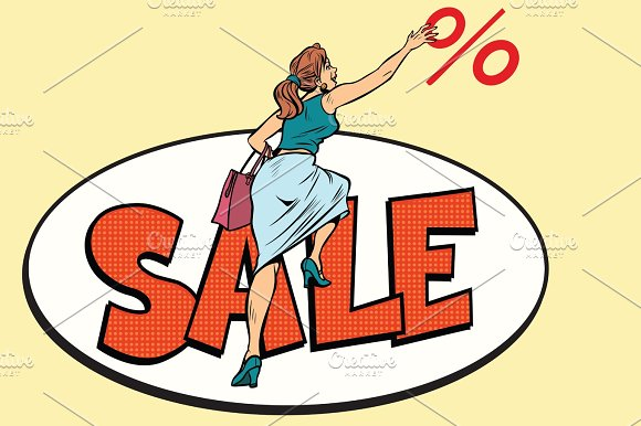 Woman Customer Sales And Discounts