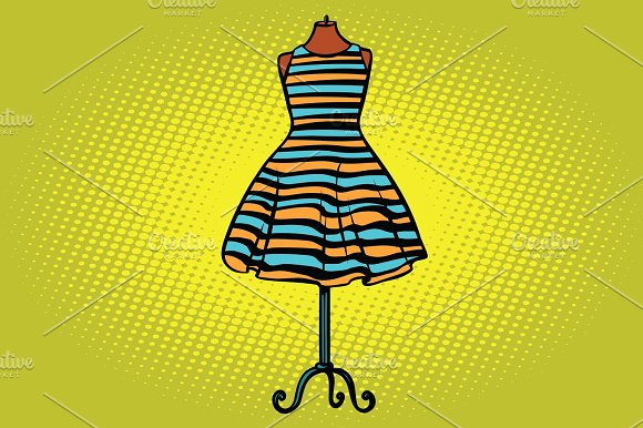 striped dress in Studio on the dummy front hanger