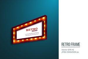 Realistic 3d retro frame.